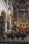 Photos of the artist's Mass in the Saint Carrolus Borromeus church in Antwerp on 1th March 2015