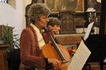 to photo concert in Millegem church, Gerda Abts with Antwerp Baroque Ensemble